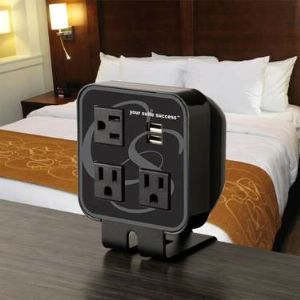 In-room recharge stations will be in place at all Comfort Suites by next summer.