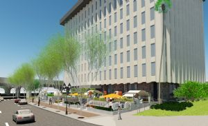 A rendering of the Aloft Orlando Downtown. The hotel will open via adaptive reuse.