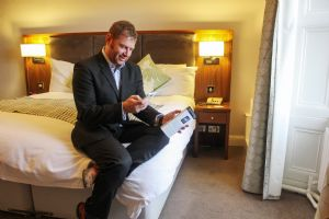 Guest uses QikServe app at Best Western Plus in Scotland.
