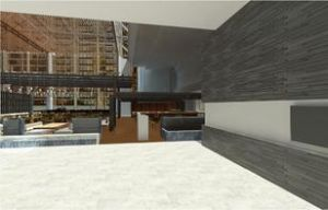 Rendering of the Hyatt Regency Chicago's new lobby