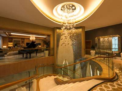 St. Regis Saadiyat Island Resort's Royal Suite living room