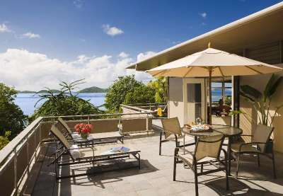 Caneel Bay Resort offers views to the sea.