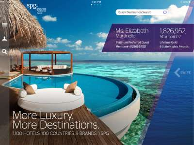 Starwood Preferred Guest app
