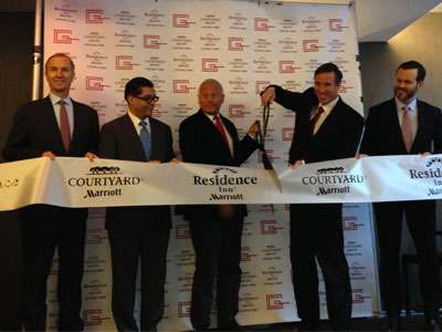 Ribbon-cutting ceremony of Courtyard by Marriott/Residence Inn Central Park