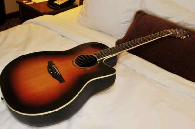 The Depot Renaissance Minneapolis Hotel's rental guitars