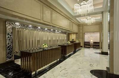 The lobby of the Loews Regency Hotel was designed by Rottet Studio.