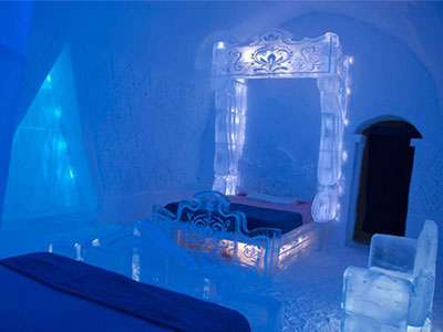 Hotel de Glace's Frozen suite