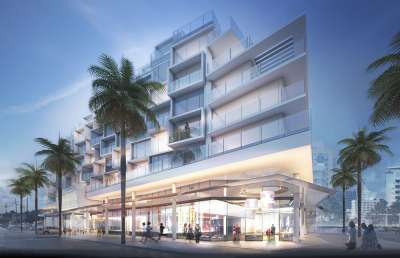 Rendering of the AC Hotel by Marriott in Miami Beach