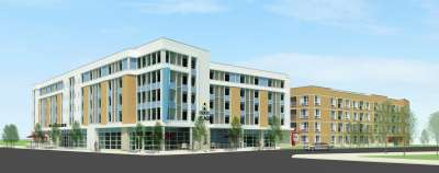 A rendering of the Hyatt Place Boulder slated to open in 2015 at Deport Square at Boulder Junction.