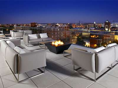The rooftop view of Cambria Hotel & Suites Washington