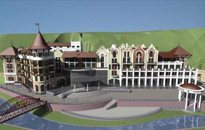 Rendering of Crowne Plaza Borjomi