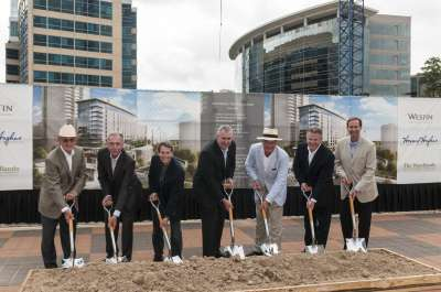 Groundbreaking recently was held for The Westin