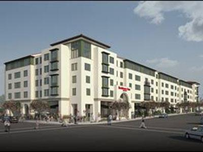 A rendering of the Residence Inn by Marriott in Pasadena