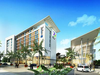 A rendering of the Radisson Blu Hotel Accra Airport