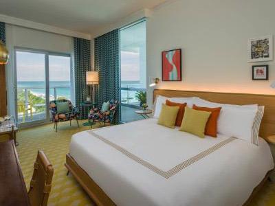 A guestroom at the Thompson Miami Beach