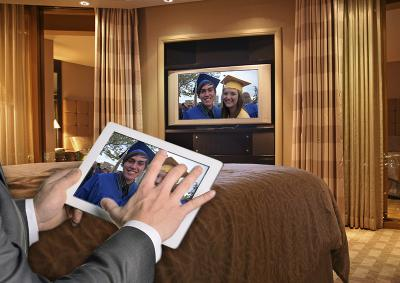 Hotel Internet Services' new BeyondTV streaming media player allows guests to stream their own subscribed media.