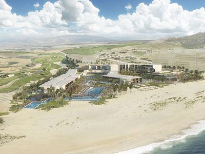 A rendering of Nobu Hotel Los Cabos