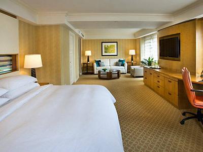 A junior suite at JW Marriott Essex House