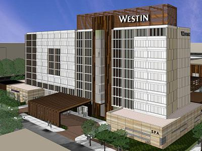 A rendering of The Westin Jackson