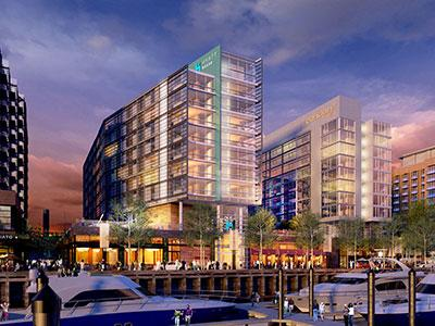 The dual-branded Canopy by Hilton/Hyatt House is expected to open in fall 2017.