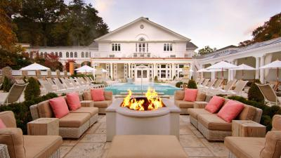 The Spa Garden at Omni's The Homestead is considered a hot spot for relaxing.