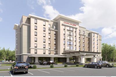 The Hampton Inn & Suites in North Atlanta is under construction.