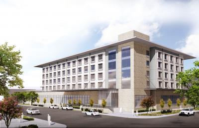 Rendering of new hotel