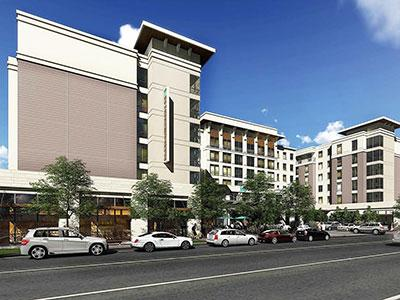 A rendering of the Embassy Suites in downtown Amarillo