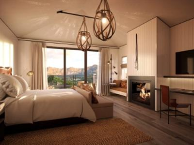 A master suite at the resort