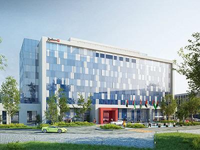 Rendering of Radisson Red Dubai Silicon Oasis