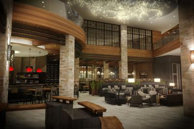 Rendering of Archer Hotel Napa's lobby