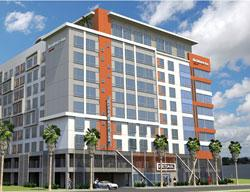Rendering of the hotel