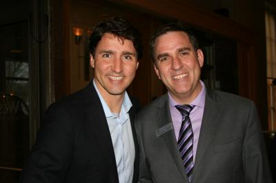 Canadian Prime Minister Justin Trudeau and Westin Nova Scotian GM John Wilson