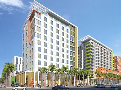 Rendering of the new Hilton Garden Inn in Miami