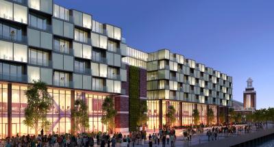 Rendering of a planned hotel on Navy Pier