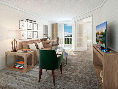 Rendering of a guestroom at Hilton Atlanta Perimeter