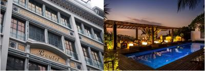 MGallery by Sofitel in Paris (left) and Hotel Santa Teresa in Rio de Janeiro