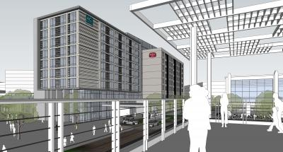 Rendering of AC Hotel and Residence Inn at Frisco Station