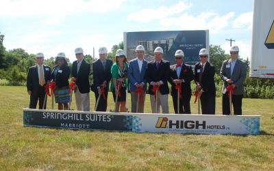 Groundbreaking ceremony for SpringHill Suites by Marriott Allentown/Bethlehem