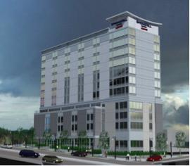 Rendering of the SpringHill Suites by Marriott Atlanta Downtown