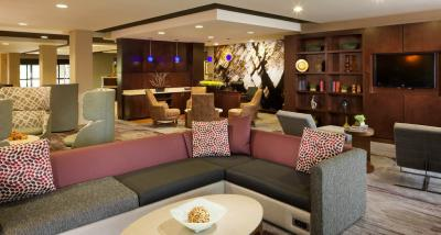 The newly renovated lobby of the Courtyard by Marriott Jackson