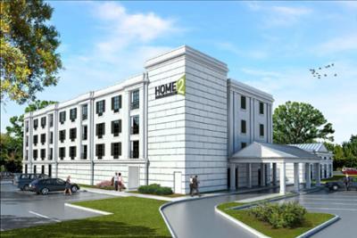 Rendering of Home2 Suites by Hilton Parc Lafayette