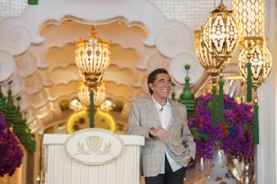 Steve Wynn at a press conference for Wynn Palace