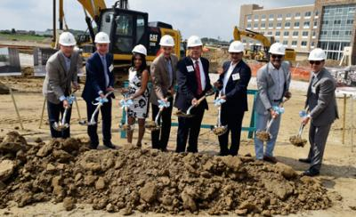 Officials break ground on the Embassy Suites by Hilton Indianapolis/Noblesville.