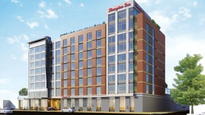 Rendering of Hilton's dual-brand property in Washington