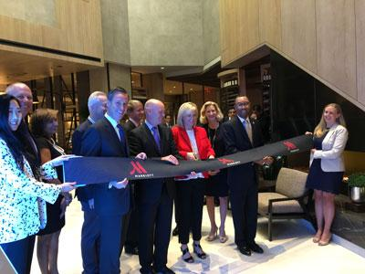 Ribbon-cutting ceremony for the Charlotte Marriott City Center