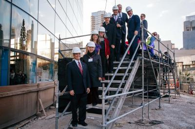 Fairmont Austin holds a topping out ceremony.