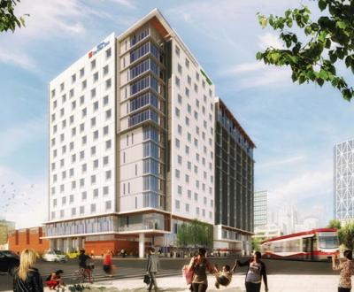 Rendering of Hilton's dual-branded property in Canada