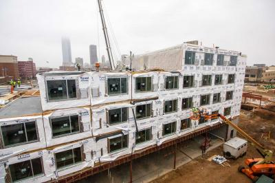 An AC Hotel using module construction in Oklahoma City