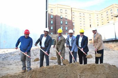 Groundbreaking ceremony for the Aloft hotel in Savannah